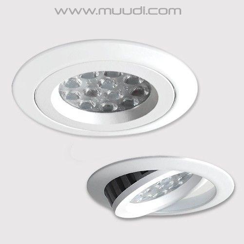 Ajattomalta näyttävä Arda LED-kohdevalaisin, seinäkytkimellä himmennettävä