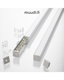 Kantikas kulmalista kannella LED-nauhalle 1700mm AP12