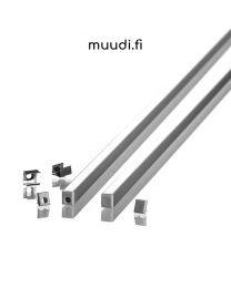 Nanolista kannella led-nauhoille 2000mm AP03