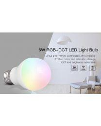 RGB+CCT LED Polttimo E27 6W / kaukosäädin
