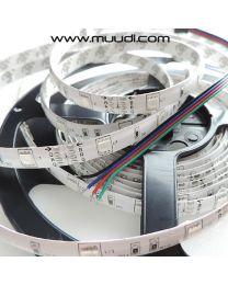 Vesisuojattu RGB Led-nauha 12V 7,2W/m IP65 NA90