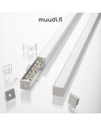 Kantikas kulmalista kannella LED-nauhalle 2000mm AP12