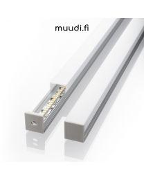 Lista kannella ja johtokotelolla led-nauhoille 2000mm AP06