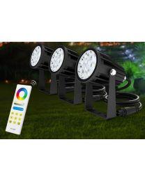 2.4G MiLight Valonheitin RGB+CCT 9W IP65 24VDC