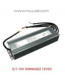 0/1-10V Himmennettävä LED Virtalähde 180W 12VDC DD34