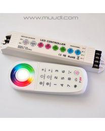 Ohjelmoitava RGB Ohjain/ RF Kaukosäädin 12-24VDC