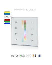 Langaton RF säädin RGB ja Värilämpö 2+2 kanavaa 230VAC RW39