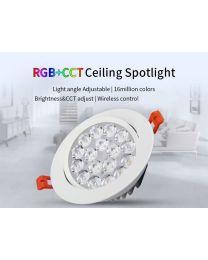 RGB ja Värilämpötilasäädettävä LED spottivalo 9W