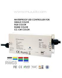 Vesitiivis RF Vastaanotin himmennin 12-24VDC IP66 RW03